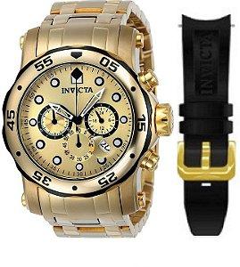 35a1982f10a Relógio INVICTA 23670 Pro Diver Pulseira Dupla Troca Fácil Lançamento