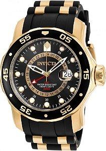 Relógio INVICTA 6991 Pro Diver 47 mm Banhado a Ouro 18k GMT Suíço