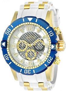 50300f3cdc9 Relógio Invicta 23706 Pro Diver Masculino Banhado a Ouro 18k Branco  Cronógrafo