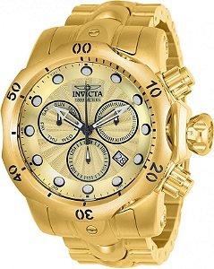 Relógio Invicta 23891 Venom Masculino Suíço Banhado a Ouro 18k Cronografo
