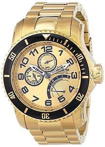 Relógio Invicta 15343 Pro Diver Multi-Função Banhado a Ouro 18k