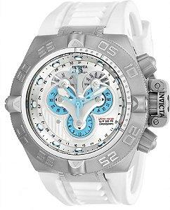 c9d9eb56908 Relógio Invicta 24098 Subaqua Noma 4 Edição Limitada Branco e
