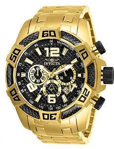 Relógio Invicta 25853 Pro Diver 50mm Mostrador Preto Texturizado Cronógrafo
