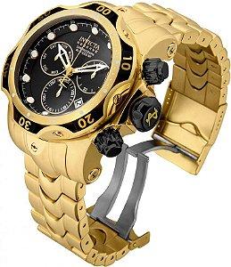 Relógio Invicta Reserve 25979 Venom Banhado a Ouro 18k Suíço Cronógrafo
