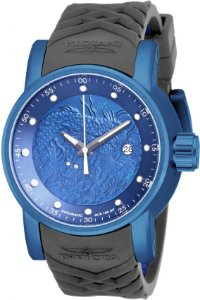 Relógio Invicta 18214  Yakuza S1 Rally Automático Azul Pulseira Cinza Resistente a Água 100m