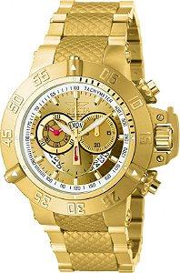 Relógio Invicta 5403 Subaqua Noma 3 Banhado a Ouro 18k Cronógrafo Suíço