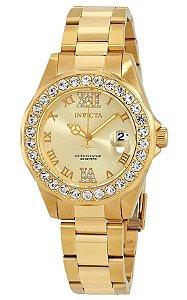 Relógio Invicta 15252 Pro Diver 38mm Feminino Banhado a Ouro 18k