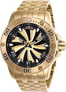 Relógio Invicta 25850 Speedway  49mm Automático Banhado a Ouro 18k Mostrador Turbina