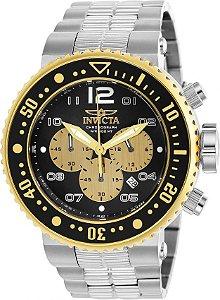 e027520477e Relógio Invicta 25075 Pro Diver 52mm Prata Cronógrafo Mostrador Preto