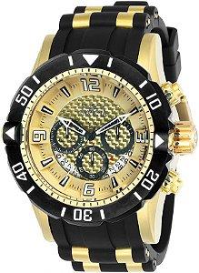 Relógio Invicta 23705 Pro Diver Masculino Banhado a Ouro 18k  Mostrador Dourado Cronógrafo