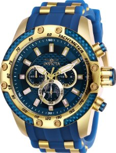 Relógio Invicta 25941 Speedway Banhado a Ouro 18k Mostrador Azul