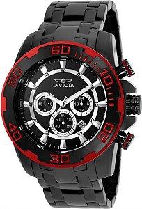 Relógio Invicta 22323 Pro Diver 50mm Fundo Preto Cronógrafo