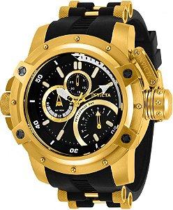 Relógio Invicta 30389 Militar Coalitions Forces 52.5mm Banho Ouro 18k Multifunção
