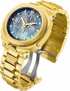 Relógio Invicta Reserve 30839 Russian Diver 52mm Banho Ouro 18k Suíço Edição Limitada