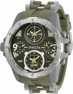 Relógio Invicta 31966 US Army 50mm Titânio Fundo Preto MultiFuso