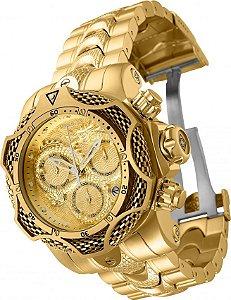 Relógio Invicta Reserve 31519 Venom 52.5mm Banho Ouro 18k Suíço