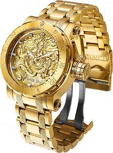 Relógio Invicta 26511 Coalition Forces 52mm  Banho Ouro 18k Automático