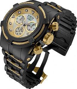 Relógio Invicta Reserve Bolt Zeus 12731 Banho Íon Preto Movimento Suíço 53mm