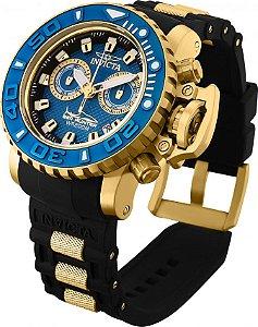 Relógio Invicta 20476 Sea Hunter 50mm Fundo Azul Movimento Suíço