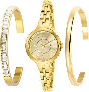 Relógio Invicta Angel 29340 Feminino Banho Ouro Caixa 28mm com Braceletes