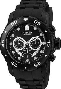 Relógio Invicta Pro Diver 6986 Banho Ion Preto Cx 48mm Cronógrafo