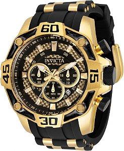Invicta Pro Diver 33838 Banho Ouro 52mm Mostrador Dourado Lançamento