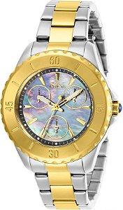Relógio Invicta Angel 29112 Caixa 38mm Banho Prata e Ouro