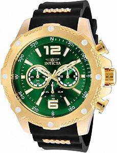 Relógio Invicta Iforce 19661 Banho Ouro Mostrador Verde
