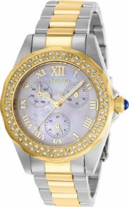 Relógio Invicta Angel 28437 Banho Prata e Ouro Feminino