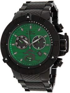Relógio Invicta Subaqua 33418 Noma 3 Banho Íon Preto Mostrador Verde