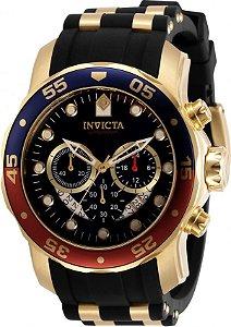 Relógio Invicta Pro Diver 31293 Banho Ouro Mostrador Preto Bezel Pepsi