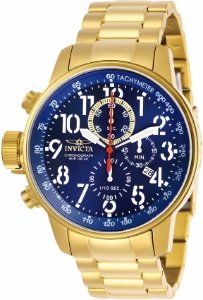 Relógio Invicta Conection 28744 Banho Ouro Mostrador Azul