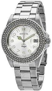 Relógio Invicta Angel 28672 Banho Prata Movt. Suíço Feminino