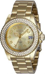 Relógio Invicta Angel 28673 Banho Ouro Movt. Suíço Feminino