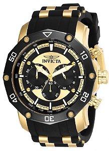 Relógio Invicta Pro Diver 28754 Banho Ouro Cronógrafo