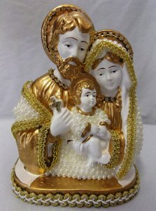 Sagrada Família em pérola 15cm
