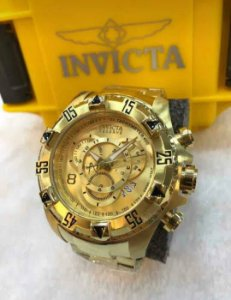 Relogio Invicta modelo excursion dourado