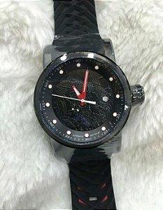 Relogio Invicta Yakuza automatico preto com pulseira em borracha