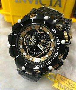 Relogio Invicta Reserve Hybrid Top preto com detalhe em dourado