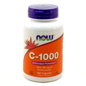 VITAMINA C 1000MG (100 TABLETES) - NOW FOODS