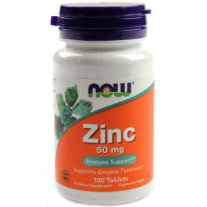 ZINCO 50MG (100 TABLETES) - NOW FOODS