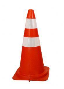 Cone Flexivel NBR15071 Laranja com Refletivo 75 CM