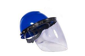 Protetor Facial Incolor com Suporte Universal de Capacete CA 33262