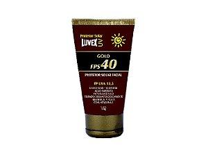 Protetor Solar Facial Luvex UV Gold FPS 40 50g