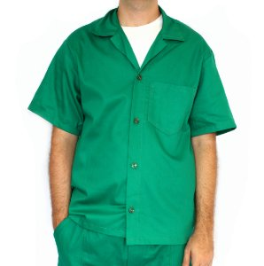 Jaleco de Brim Verde Uniforme Profissional