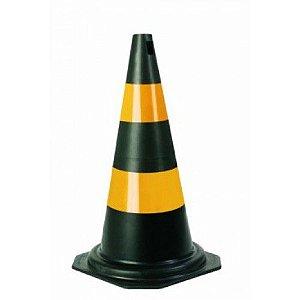 Cone Preto e Amarelo 75cm