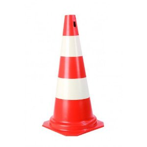 Cone Laranja e Branco 50cm