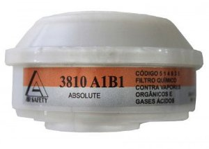 Filtro Quimico 3810 A1 B1 VO/GA A1B1 para Mascara Full Face e Absolute