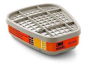 Filtro 3M 6009S - Mercurio, Cloro, Dióxido de Enxofre Pacote com 2 Unidades