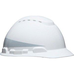 Capacete H-700 Branco com Refletivo e Ventilado com Suspensão Simples e Jugular 3M CA 29637